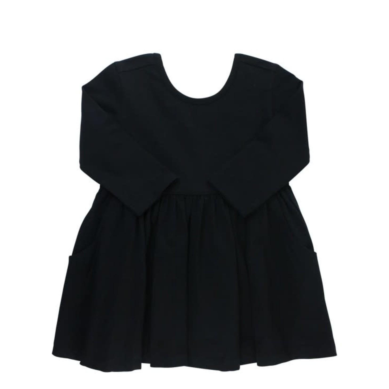 RuffleButts Twirl Dress, Black