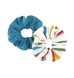 RuffleButts 2-Pack Harvest Rainbow Hair Scrunchies