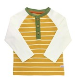 RuggedButts Golden Yellow Stripe Raglan Henley Tee