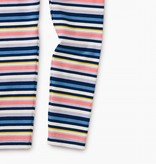 Tea Collection Baby Leggings - Nightfall with Stripes 9-12M