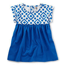 Tea Collection Empire Baby Dress - Greek Tile 2T
