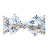 Baby Bling Bows Printed Knot - Snow Globe