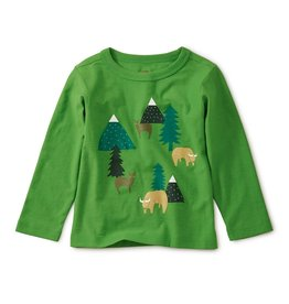 Tea Collection Takin Reserve Graphic Baby Tee - Gingko