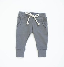 Mebie Baby Slate French Terry Jogger Pants