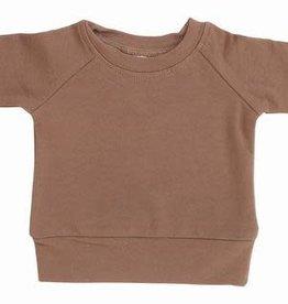 Mebie Baby Camel French Terry Crew Neck Sweatshirt