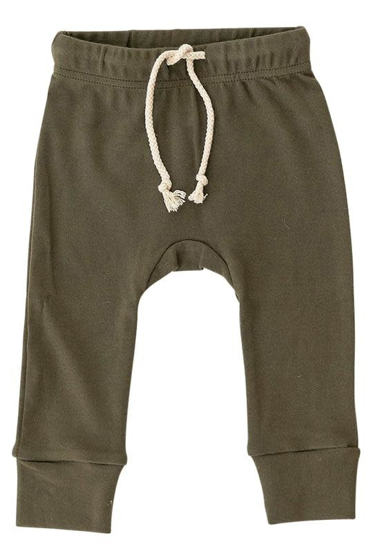 Mebie Baby Cotton Olive Jogger Pants