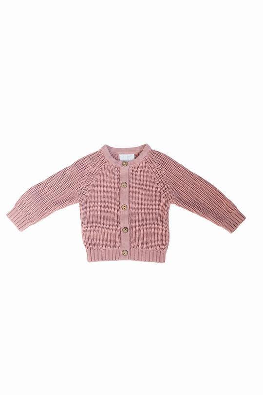 Mebie Baby Blush Knit Cardigan Sweater