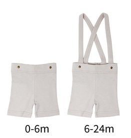 Loved Baby Suspender Shorts Light Gray 6-9M