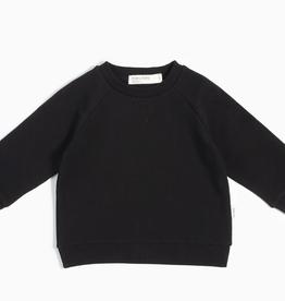 """Miles Baby """"Miles Basic"""" Black Crew Neck Sweater - Baby"""
