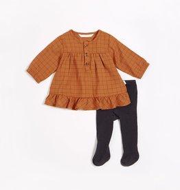 """Miles Baby """"Central Park"""" Woven Flannel Dress Set (2pcs.)"""
