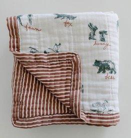 Saranoni 4-Layer Quilt By Hope Lakewood Animals Bamboo Rayon Muslin