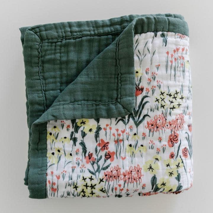 Saranoni By Hope Roadside Picks Bamboo Rayon Muslin 4-Layer Quilt