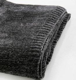 "Saranoni Coal Chenille Throw Blanket  50"" x 60"""