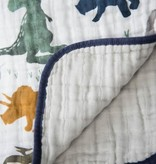 Little Unicorn Cotton Muslin Baby Quilt - Dino Friends