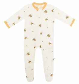 Kyte Baby Zippered Footie Buzz Newborn