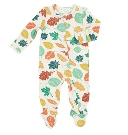 Angel Dear Fall Leaves Zipper Footie 6-9M