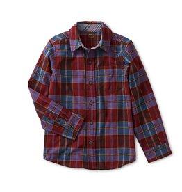 Tea Collection Boys Family Plaid Button Up Shirt - Family Plaid  5