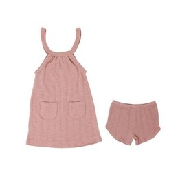 Loved Baby Pointelle Halter Dress + Short - Mauve 18-24M