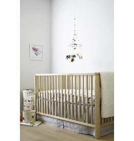 Petit Pehr Designs Crib Skirt Grey