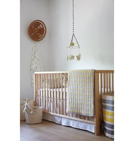 Pehr Designs Crib Skirt White
