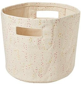Pehr Designs Canvas Bin, Showers Mini Pink