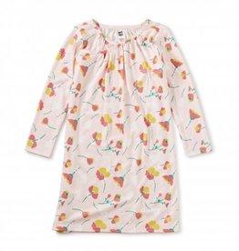Tea Collection Long Sleeve Nightgown - Flores Rosadas