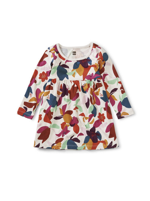 Tea Collection Empire Baby Dress - Amazonia Orchids