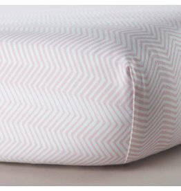 Oilo Studio Crib Sheets (Zig Zag, Blush)