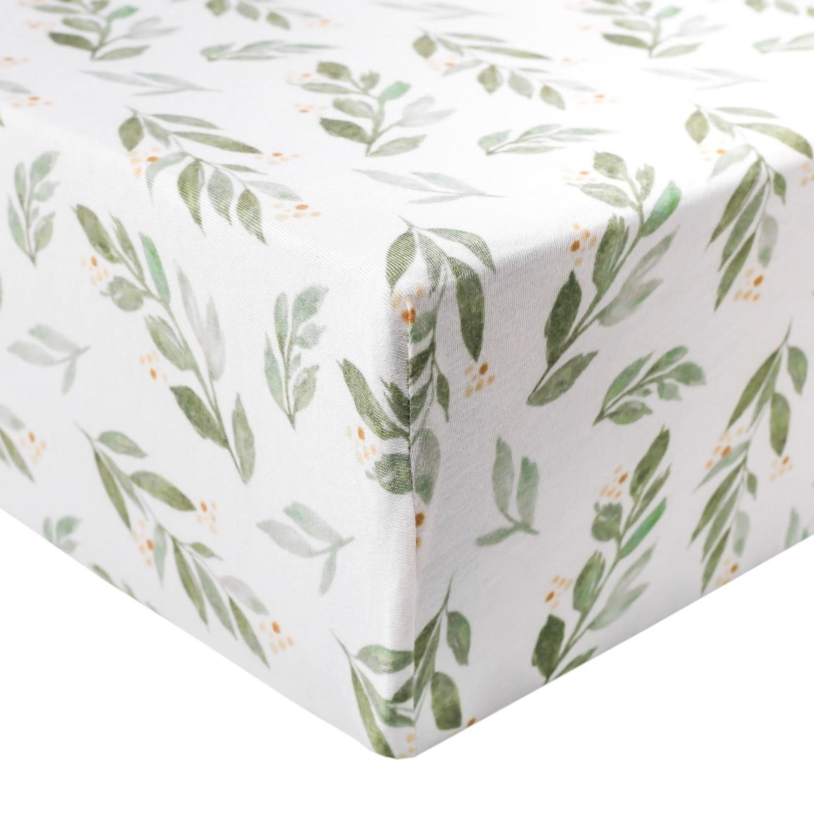 Copper Pearl Premium Crib Sheet Fern