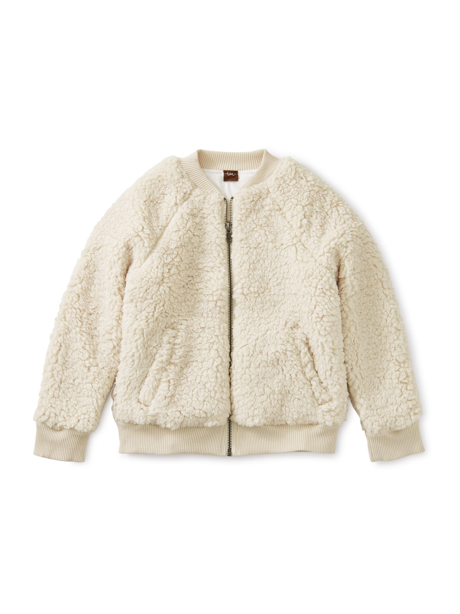 Tea Collection Sherpa Fleece Bomber Jacket 3T