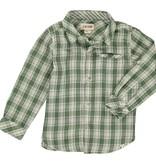 Me + Henry Green/Cream Plaid Shirt