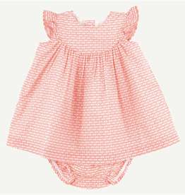 Oliver and Rain Pink Geo Fish Dress Set 18M