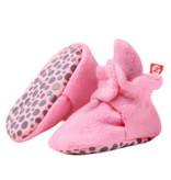 Zutano Cozie Fleece Gripper Bootie -  Hot Pink