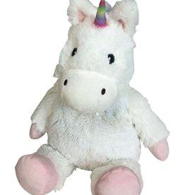 Intelex Big White Unicorn Cozy Plush