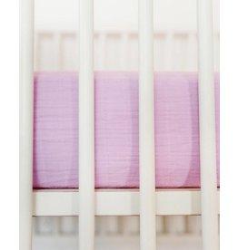Little Unicorn Cotton Muslin Fitted Sheet - Pink Lilac