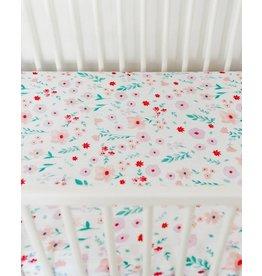 Little Unicorn Cotton Muslin Crib Sheet - Morning Glory