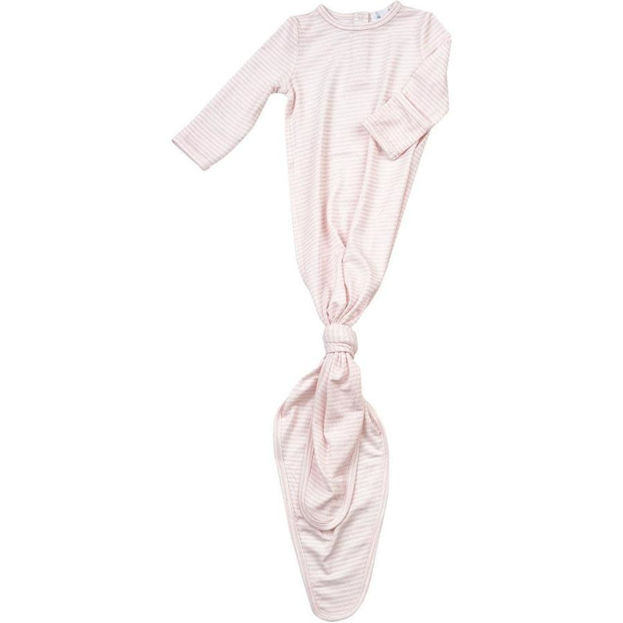 Angel Dear Knotted Gown, Pink Stripe 0-3M