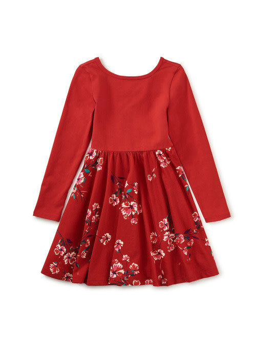 Tea Collection Ballet Skirted Dress - Ruby