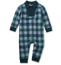 Tea Collection Plaid Romper - Terry Plaid