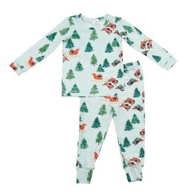 Angel Dear Two Piece Bison Holiday Pajama Set