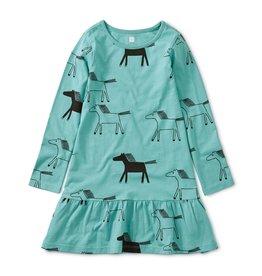 Tea Collection Printed Ruffle Dress - Highland Horses 2