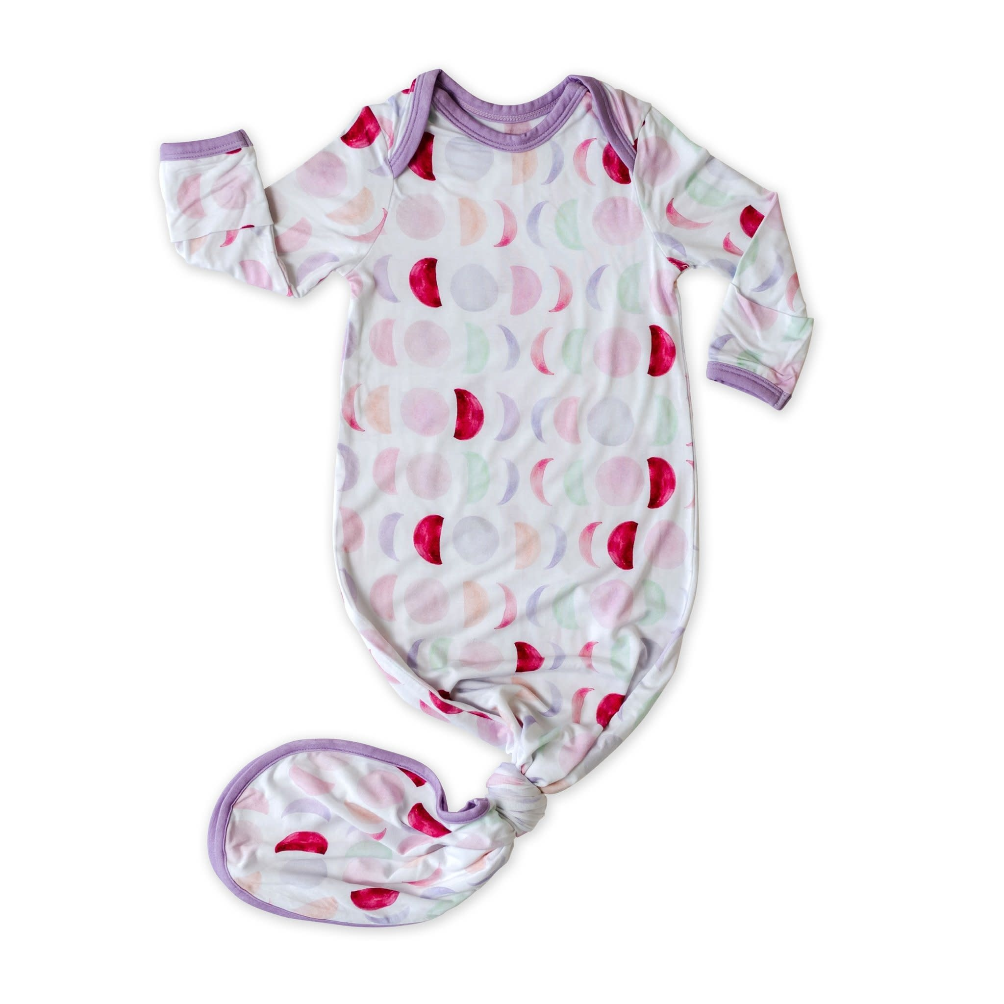 Little Sleepies Knotted Gown Luna Mauve