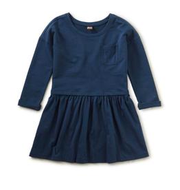 Tea Collection Solid Pocket Play Indigo Dress