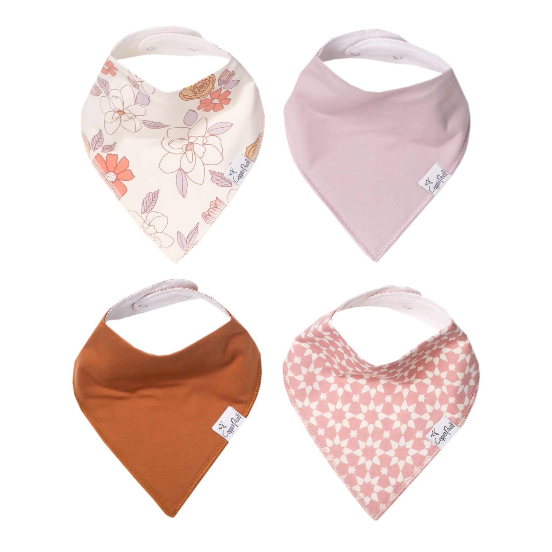 Copper Pearl Bibs - Ferra Set - 4 pack