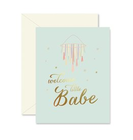 Ginger P. Designs Welcome Little Babe Card