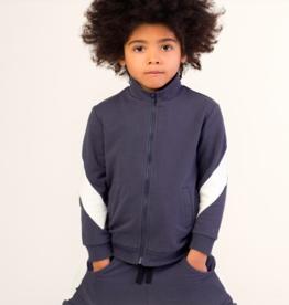Miles Baby Boys Zip Up Sweatshirt Dark Gray 4T