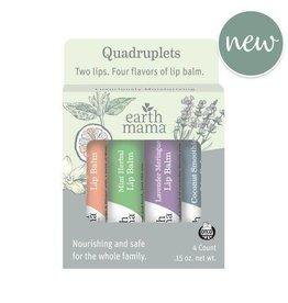 Earth Mama Organics Lip Balm Quadruplets
