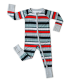 Little Sleepies Convertible Romper/Sleeper Winter Stripe
