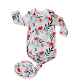 Little Sleepies Knotted Gown Winter Floral