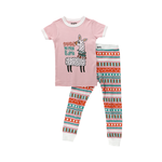 Lazy One Kids 2pc PJ Set - Llama short sleeve